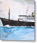 Clipper Epic Longline Fishing Boat Nautical Chart Map Art Metal Print