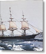 Clipper Ship Red Jacket In The Ice Off Cape Horn On Her Passage From Australia To Liverpool Metal Print