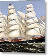 Clipper Ship Three Brothers Metal Print