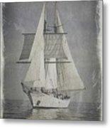 Clipper Under Sail Metal Print
