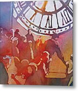 Clock Cafe Metal Print
