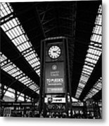 clock in Santiago central railway station Chile Metal Print
