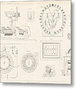 Clock Mechanism, 19th Century Metal Print by Science Photo Library