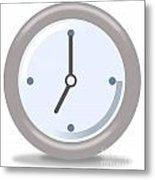 Clock Seven Metal Print