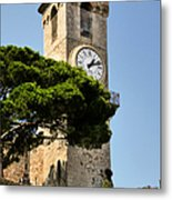 Clock Tower - Cannes - France Metal Print