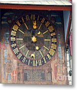 Clock Tower In Solothurn Metal Print