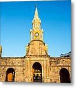Clock Tower Gate Metal Print