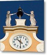Clock Tower In Bardolino Metal Print