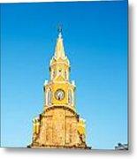 Clock Tower Of Cartagena Metal Print
