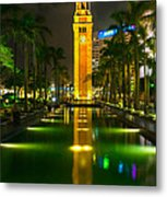 Clock Tower Of Old Kowloon Station Metal Print by Hisao Mogi