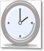 Clock Two Metal Print