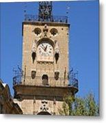 Clocktower - Aix En Provence Metal Print