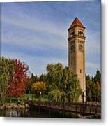Clocktower Fall Colors Metal Print