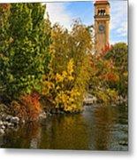Clocktower In Fall Metal Print
