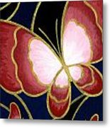 Cloisonne Butterfly Metal Print by Elaina  Wagner