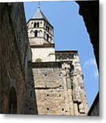 Cloister Cluny Church Steeple Metal Print