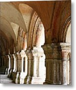 Cloister In Fontenay Abbey, France Metal Print