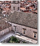 Cloistered Garden And Tower In The White City Metal Print
