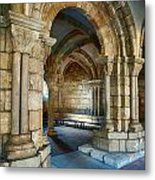Cloisters Arch Metal Print
