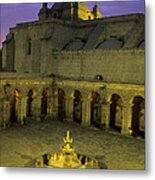 Cloisters At Sunset Arequipa Peru Metal Print