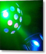 Close Contact With A Green Ufo Metal Print