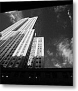 Close In Shot Of The Empire State Building New York City Metal Print by Joe Fox