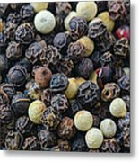 Close Up Background Of Multi Color Peppercorn Metal Print