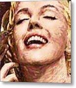 Close Up Beautifully Happy Metal Print by Atiketta Sangasaeng