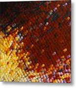 Extreme Close Up Of A Butterfly's Wing Metal Print