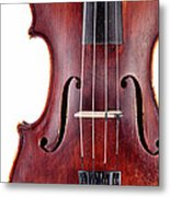 Close Up Of A Violine Metal Print