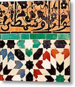 Close-up Of Design On A Wall, Ben Metal Print