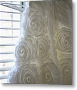 Close-up Of Flower Wedding Dress Metal Print