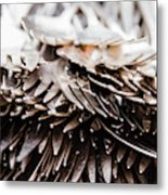 Close Up Of Heap Of Silver Forks Metal Print