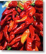 Close-up Of Red Chilies, Taos, New Metal Print