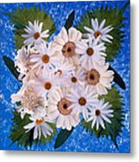 Close Up Of White Daisy Bouquet Metal Print