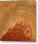 Close-up One Of Agate Seven From The Poured Agate Painting Collection Metal Print