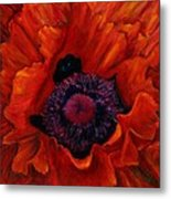 Close Up Poppy Metal Print by Billie Colson