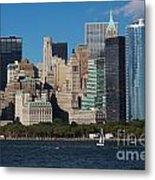 Close View Of Downtown Manhattan Eastern Skyline Metal Print