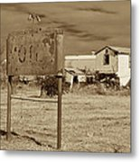 Closed For Repairs Metal Print