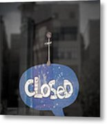 Closed Sleep Tight Metal Print