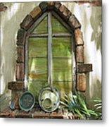 Closed Window Metal Print