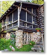 Closer View Of The Cabin Metal Print