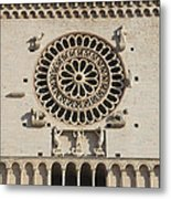 Closeup Of Assisi Cathedral Metal Print