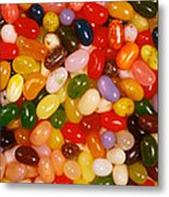 Closeup Of Assorted Jellybeans  Metal Print