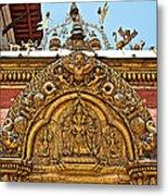 Closeup Of Carving Over Door In Bhaktapur Durbar Square In Bhaktapur-nepal Metal Print