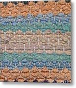Closeup Of Old Rag Rug Metal Print