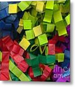 Colorful Cut Tissue Paper Metal Print