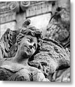 Closeup View Of The Original Baroque Sculpture Metal Print