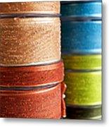 Cloth Ribbons Metal Print