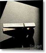 Clothes Pin Metal Print